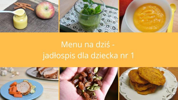 Menu na dziś jadłospis nr 1 (raczkujac.pl)