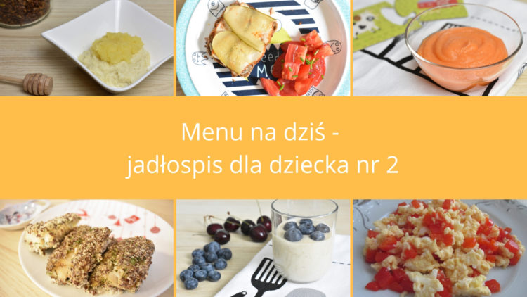 Menu na dziś jadłospis dla dziecka nr 2 (raczkujac.pl)