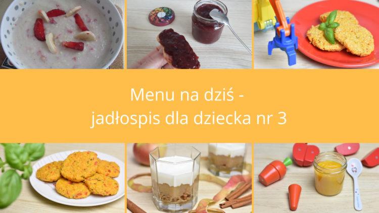Menu na dziś jadłospis dla dziecka nr 3