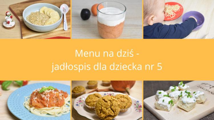 Menu na dziś jadłospis dla dziecka nr 5 (raczkujac.pl)