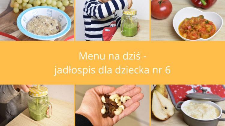 Jadłospis dla dziecka nr 6 (raczkujac.pl)