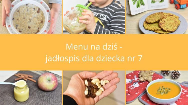Menu na dziś jadłospis dla dziecka nr 7 (raczkujac.pl)