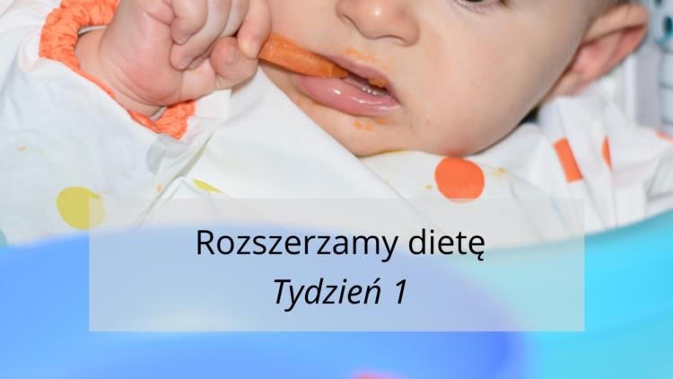 Rozszerzanie diety tydzień 1 (raczkujac.pl)